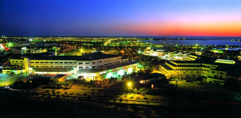 Chabahar Port at night