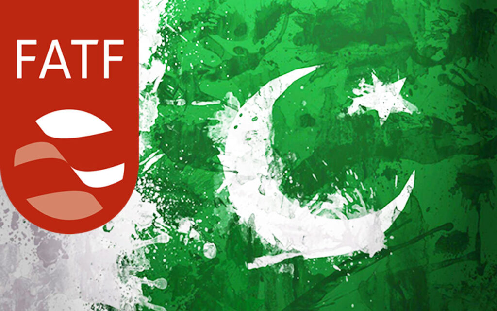 Pakistan flag and FATF logo