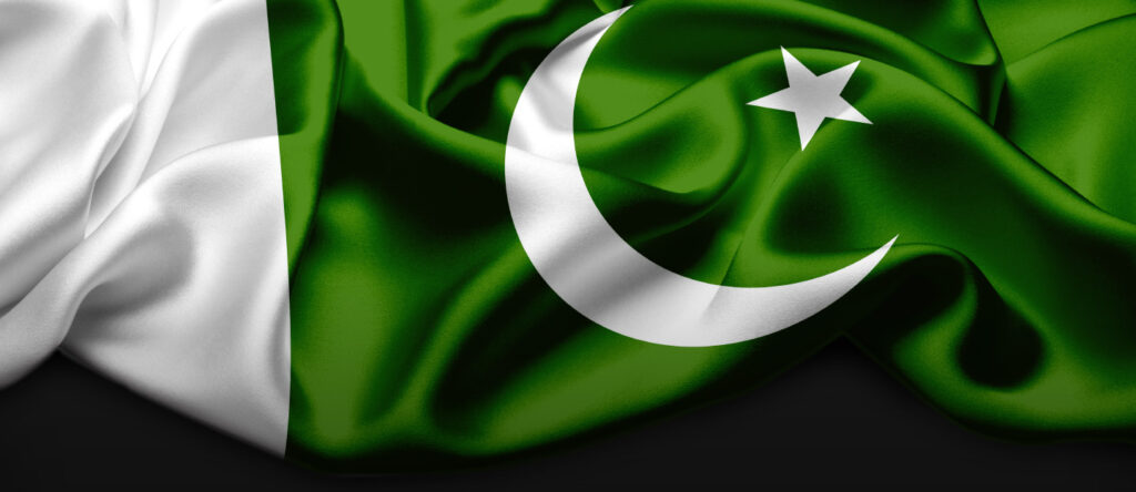 Waving flag of Pakistan