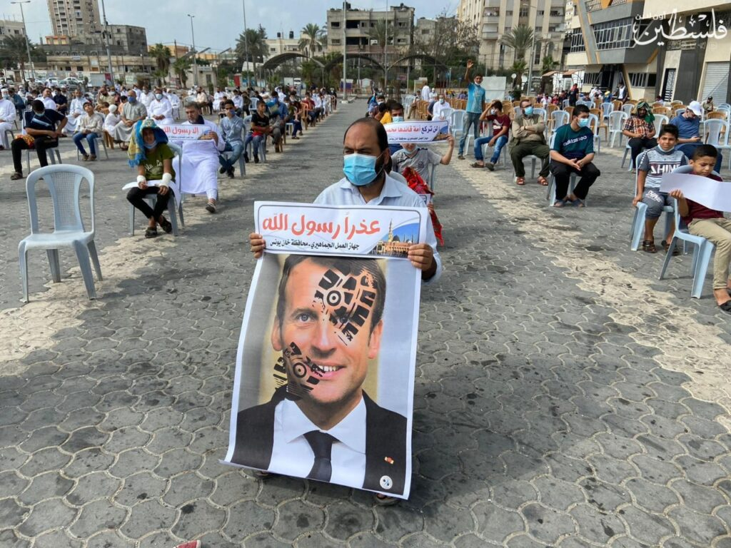 Palestinians observe Day of Rage against President Macron