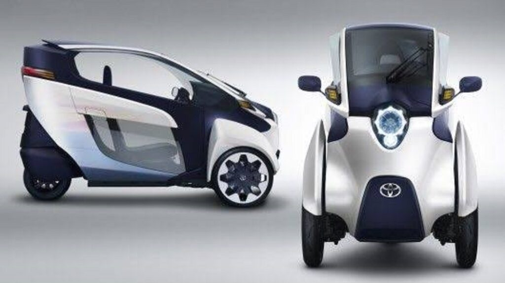 3-D view of electric tricycles
